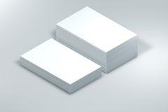 vele kaarten Malplaatje aan presentatie Stock Afbeelding