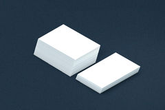 Vele kaartenstapel van document malplaatje aan presentatie Stock Afbeeldingen