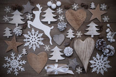 Vele Kerstmisdecoratie, Hart, Sneeuwvlokken, Ster, Heden, Rendier Stock Afbeeldingen