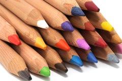 Vele kleurpotloden Royalty-vrije Stock Afbeelding