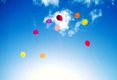 Vele kleurrijke baloons Stock Afbeelding