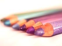 Vele kleurrijke potloden Royalty-vrije Stock Foto