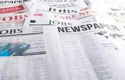 Vele kranten, close-up stock foto