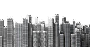 Vele moderne gebouwen Stock Afbeeldingen