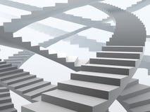 Vele mogelijke manieren van de groei en succes stock illustratie
