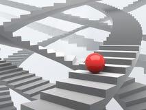 Vele mogelijke manieren van de groei en succes vector illustratie