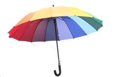 Vele Mooie kleuren op een paraplu Stock Foto