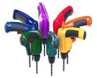 Vele multi-colored boren Stock Afbeelding