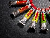 Vele multicolored buizen met waterverfregenboog kleuren stock afbeelding