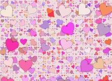 Vele multicolored kleine hartenachtergronden stock illustratie
