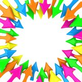 Vele multicolored pijlen Stock Foto