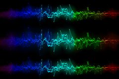 Vele Multicolored Signalen die samen opstellen royalty-vrije illustratie