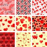 Vele naadloze valentijnskaarten Royalty-vrije Stock Foto