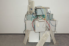 Vele oude computers Royalty-vrije Stock Foto's