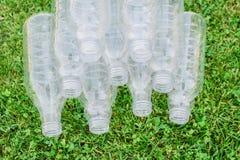 Vele plastic flessen royalty-vrije stock foto
