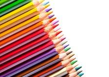 Vele potloden met copyspase stock afbeelding