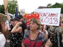 Vele Protesteerders bij het Witte Huis stock foto
