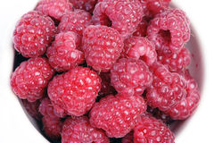 Vele raspberrys royalty-vrije stock afbeelding