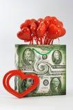 Vele rode harten Royalty-vrije Stock Afbeeldingen