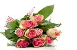 Vele roze romantische rozen Royalty-vrije Stock Foto