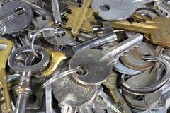 Vele sleutels Stock Afbeeldingen