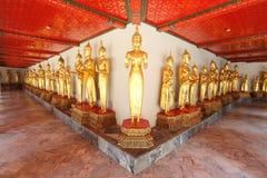 Vele standbeelden van Boedha bevinden zich bij photempel, Thaila Royalty-vrije Stock Foto's