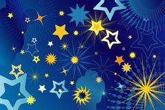 Vele sterren, vectorillustratie Stock Afbeeldingen
