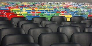 Vele stoelen Stock Fotografie