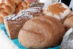 Vele types van brood Royalty-vrije Stock Foto's