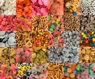 Vele types van snoepjes stock afbeelding
