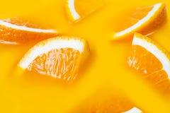 Vele vers een plak van oranje close-up Royalty-vrije Stock Afbeelding