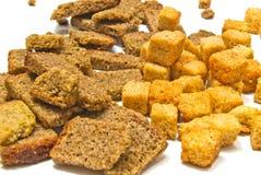 Vele verschillende crackersclose-up Stock Afbeeldingen