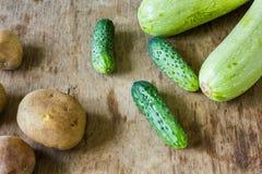 Vele verschillende groenten royalty-vrije stock afbeeldingen