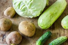 Vele verschillende groenten royalty-vrije stock fotografie