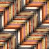 Vele verschillende houten tegels die vloerontwerp vormen Stock Fotografie