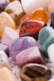 Vele verschillende natuurlijke stenen Royalty-vrije Stock Foto
