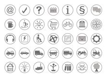 Vele verschillende pictogrammen voor de website Stock Fotografie