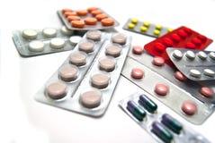 Vele verschillende pillen Royalty-vrije Stock Afbeelding