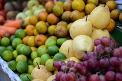Vele verse gemengde vruchten Stock Foto's