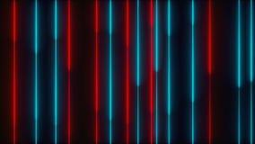 Vele verticale T.L.-verlichtinglijnen, abstracte computer geproduceerde 3D achtergrond, geven terug stock videobeelden