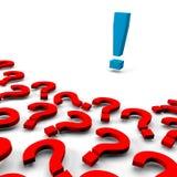 Vele vragen, één antwoord royalty-vrije illustratie