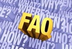 Vele Vragen, Één FAQ Stock Fotografie