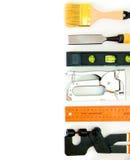 Vele werkende hulpmiddelen - nietmachine, buigtang en anderen  Royalty-vrije Stock Fotografie