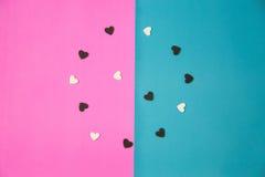 Vele witte en zwarte harten royalty-vrije stock afbeeldingen