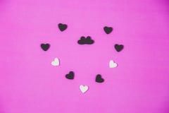 Vele witte harten Royalty-vrije Stock Afbeeldingen
