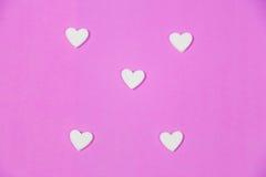 Vele witte harten Stock Afbeelding