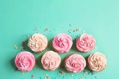 Vele yummy cupcakes stock fotografie