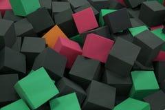 Vele zachte vierkante achtergrond van de kubussentextuur Royalty-vrije Stock Afbeeldingen