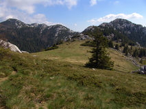 Velebit bergskedjaKroatien Arkivfoton
