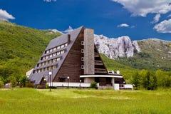 Velebit mountain lodge in Springtime Royalty Free Stock Photos